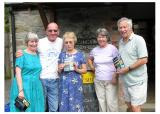 The launch of the Shropshire Fairtrade Guide at Wistanstow Village Shop, with the late, great, Pete Postlethwaite, July 2006