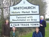 Whitchurch Fair Trade Town sign, March 2013.JPG