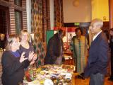 George Alagiah at Telford Fairtrade stall on occasion of first renewal of Shropshire's Fairtrade County status, October 2008