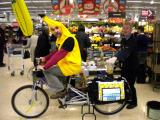 SFC Fairtrade Fortnight 2014 Fairtrade Banana Smoothie Bike at Sainsbury's 28 February 2014.JPG