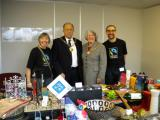 Telford & Wrekin Mayor and Mayoress, Councillors Ian and Veronica Fletcher, visit the pre Christmas Fairtrade stall at Telford & Wrekin Council, November 2010