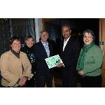 George Alagiah, patron of the Fairtrade Foundation, presents Shropshire with the Fairtrade County certificate, March 2007